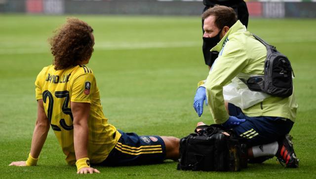 阿森纳再伤一人,大卫路易斯脚踝受伤,将在周一接受检查.jpeg